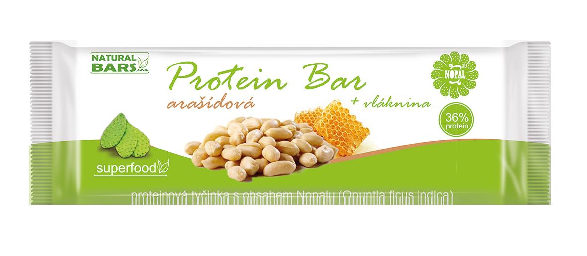 proteinová tyčinky s arašídy