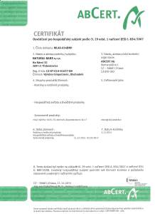 Bio-certifikát 2016