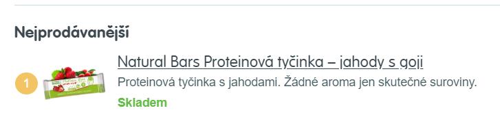 nejprodávanější zdravé mlsání na mall.cz